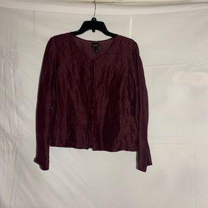 Purple Eileen Fisher button up jacket